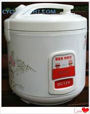 Mini DC 12V 2L low voltage electric Rice cooker and pressure pot Travel Camping