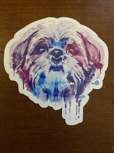 Shih Tzu Sticker Colorful Waterproof - Buy Any 4 for $1.75 Each Storewide!