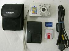 Nice! SONY Cyber-Shot DSC-W50 Digital Camera 6.0MP - Silver EXTRAS!!