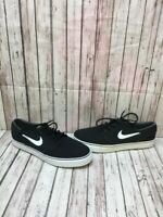 Nike SB Stefan Janoski Black Textile Lace Up Low Top Skate Shoes Men's Size 10