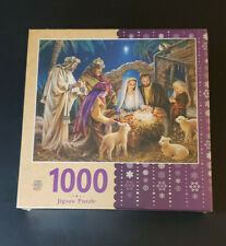 "MasterPieces Holiday A Child is Born 1000 Piece Jigsaw Puzzle 30""x24"" New Sealed"