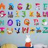 26 Alphabet Wandaufkleber Abnehmbare Kinder Pädagogisches Lernen Buchstabe Neu