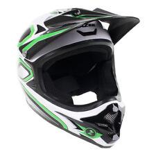 Lazer Phoenix Plus Full Face Helmet: Green/White MD