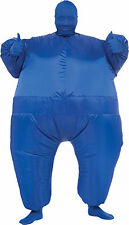 HALLOWEEN  INFLATABLE SKIN SUIT BLUE COSTUME MASK