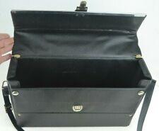 Vintage POLAROID ? Black Vinyl CAMERA CASE * working lock and snaps * Flap Front