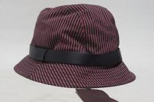 GUCCI FEDORA BLUE RED STRIPS LEATHER TRIM DETAIL BUCKET HAT L $295