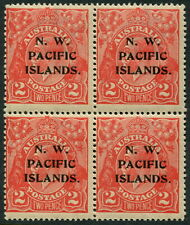 NEW GUINEA - NWPI 1922 2d 'RED' Single Wmk Block of 4 MNH SG122 Cv £38 [A7801]