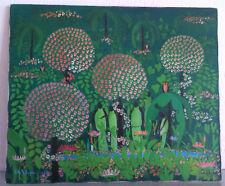 Hede REIMPRECHT XXe (Espagne) Peinture, Huile, Tableau paysage animé ART NAIF
