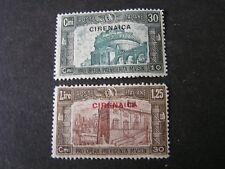 *ITALIAN COLONY, CYRENAICA, SCOTT # B25+B27(2). SEMI-POSTAL1930 PICTORIAL MH