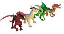 4 Piece Dragon Action Fantasy Figures - Medium