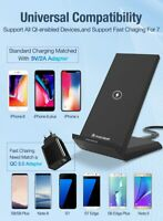 NEW 2020 15W Qi Wireless Charger Stand For iPhone Samsung  Fast Wireless Wireles