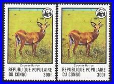 CONGO 1979 WWF ANTELOPE (KEY VALUE) x2 MNH CV$30.00 ANIMALS