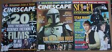 Lot of 3 Star Wars Covers Sci Fi Cinescape Magazines 1997 20th Anniv Vg+