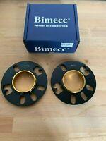 2 X 10mm BIMECC BLACK HUB CENTRIC WHEEL SPACERS ALFA ROMEO MITO  58.1MM (73.1)