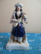Rare Antique 19thC  Early Staffordshire Arab Musican with Violin Figure