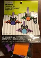 Creatology Halloween Foam Pom Ornament Craft Kit New 27 Pc Makes 3