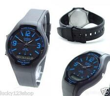 AW-90H-2B Black Blue Casio Watch Standard Unisex Dual Time Resin Band Brand-New