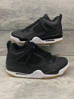 "Nike Air Jordan 4 Retro SE ""Laser"" GS Youth Size 6.5Y Black White Gum CI2970-001"
