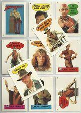 Temple of Doom (Indiana Jones) - Complete Sticker Card Set (11) 1982 Topps - NM