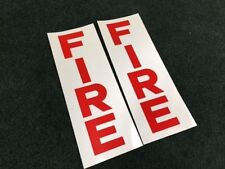 "2 Gamewell part 25355 ""F I R E"" Alarm Box  STICKER DECAL Scotchlite Reflect fire"