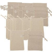 20pcs Linen Pouches Drawstring Gift Wedding Favor Bags for Jewelry Packaging