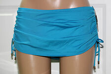 NEW Calvin Klein CEN Skirted Ruched Tie Sides Skirted Swim Bottom L CG6BS118