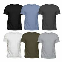 3 or 6 Pack Assorted Mens Plain Cotton Blank Basic T Shirt Casual Top Tee Lot