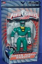 "Power Rangers Turbo GREEN TURBO RANGER New 8"" Factory Sealed 1997"