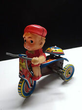 Rare ancien bébé celluloid vélo en tole tin toys made in Japan mécanique