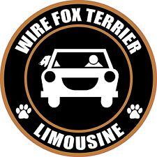 """Limousine Wire Fox Terrier 5"""" Dog Sticker"""