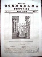 1837 VEDUTA E STORIA DI MONREALE IN PROVINCIA DI PALERMO