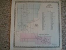 1864 MANHEIM STRASBURG PENNSYLVANIA ANTIQUE HANDCLR MAP