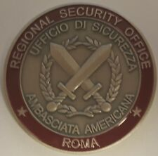 DOS DSS Diplomatic Security Service RSO Regional Security Office Roma Rome Italy