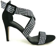 2fe7b863f1e9df Tamaris Sandalette Leder 39 Schwarz Weiß Echtleder High Heels Black White  NEU