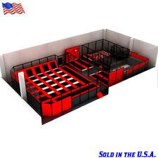 6,000 sqft Turnkey Commercial Trampoline Park Dodgeball Slam Dunk Gym We Finance