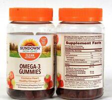 2 Bottles Sundown Non GMO Clean Nutrition Omega 3 Gluten Free 50 Count Gummies