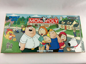 Family Guy Collectors Edition Monopoly Board Game - NEW & Complete In Open Box