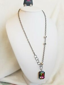 """Paparazzi """"Never a Dull Moment"""" - Multi Oil Spill Necklace Jewelry Rainbow NWT"""