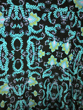 Lularoe Maxi Long Skirt Black & Blue Floral Muti Colored Size Large