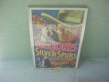 1936 SILVER SPURS Buck Jones 1970's Poster GLASS FRAMED 29x21