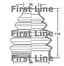 Unten, Antriebswelle First Line FCB2280