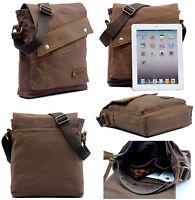 Men's Vintage Canvas Messenger Bags Casual Shoulder Bags Crossbody Satchel Bag