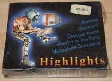 Rainbow Arts highlights vol.1 CASSETTA TAPE Boxed Commodore 64 c64 funziona