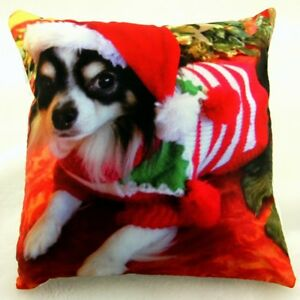 CHIHUAHUA CHRISTMAS SCATTER CUSHION ( 18 X 18 INCHES )