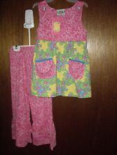 Nwt Girls Size 6 Flit & Fritter 2pc Tess Tunic Set Ruffles Mixed Prints