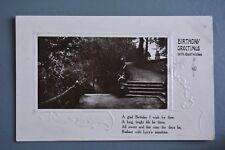 R&L Postcard: Greetings, Birthday, Embossed 1910 Davidson Bros, Posing Boy