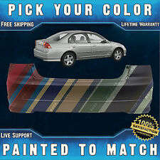 NEW Painted to Match - Rear Bumper Cover For 2004-2005 Honda Civic Sedan/Hybrid