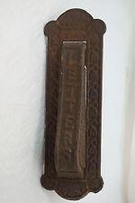 ANTIQUE DOOR KNOCKER AND MAIL SLOT LETTERS CAST IRON KENRICK NO 445 hardware