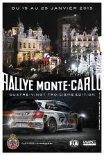 WRC Rallye Monte Carlo 2015  Official Poster