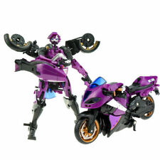 WEIJIANG Autobots CARROLL ARCE Purple Metal Part Deformation Robot Motorbike